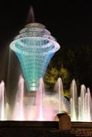 Bayliss Fountain at Night