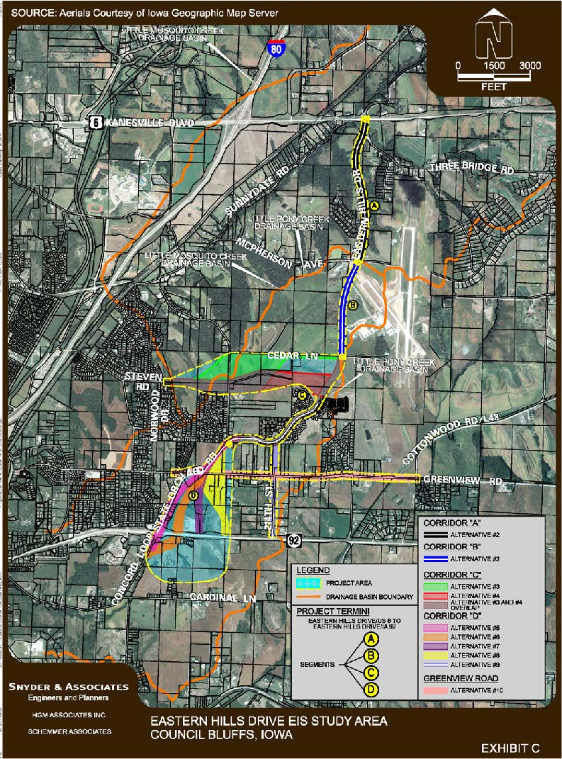 Eastern Hills Drive Council Bluffs IA Official Website - Map of eastern iowa