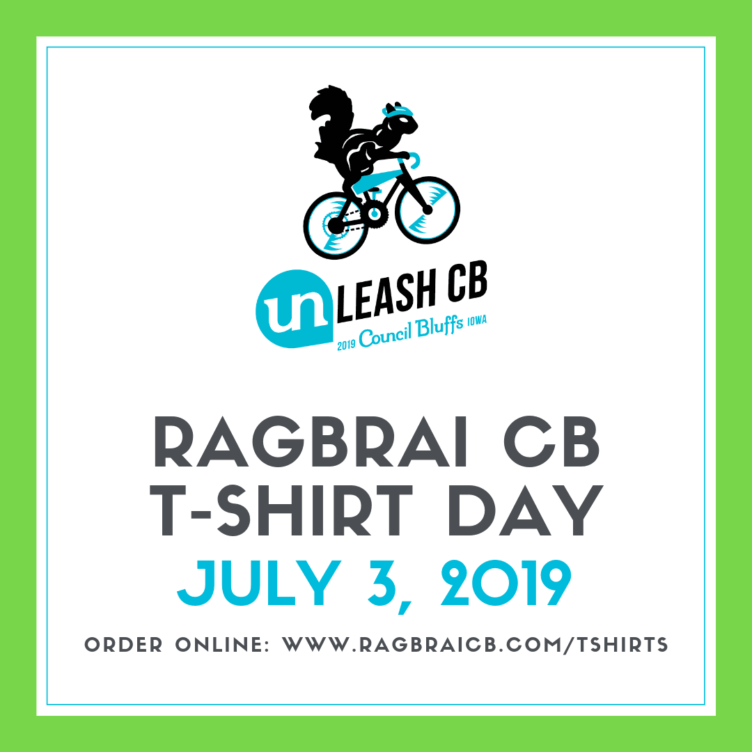 RAGBRAI T-Shirt Day Social Graphic