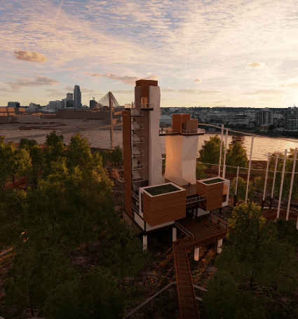 River&#39s Edge Observation Tower Conceptual Rendering