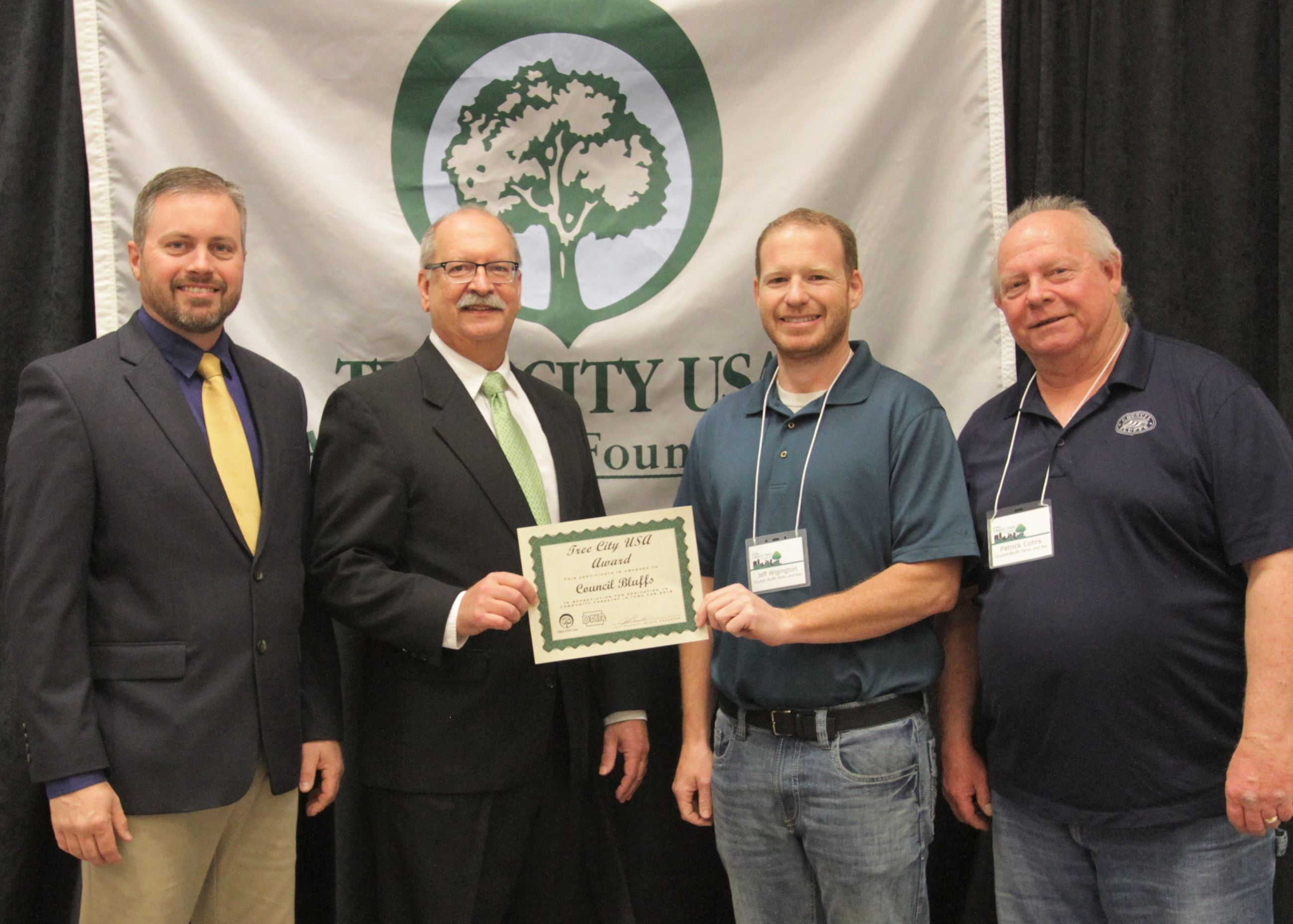 Council Bluffs Tree City USA Award