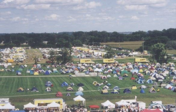 CBRC - Aerial View of RAGBRAI on soccer fields